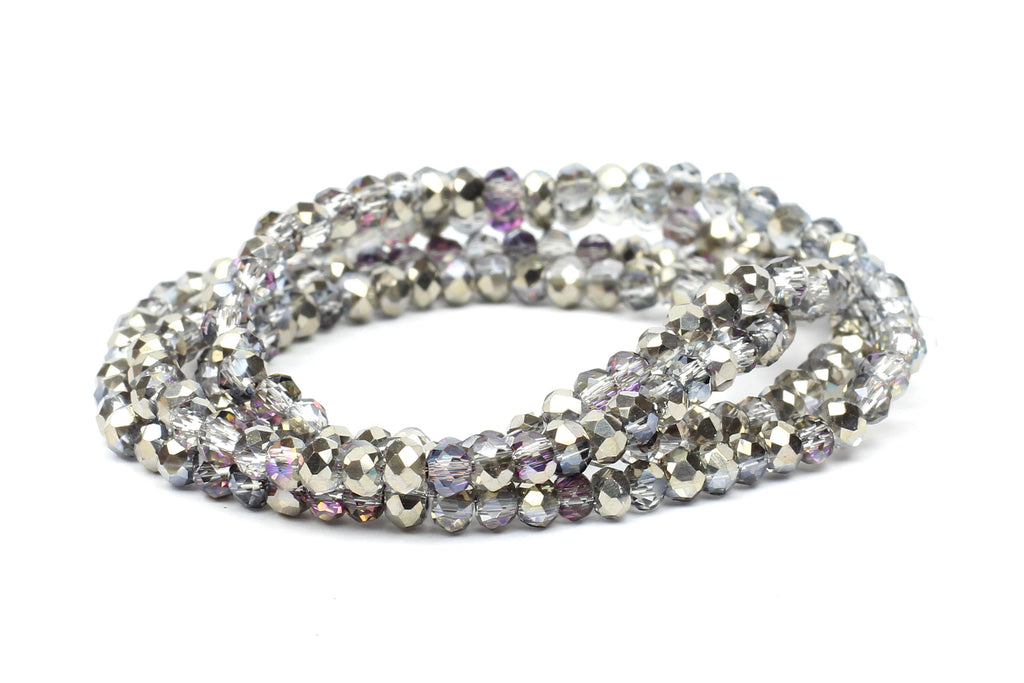 Kerrie Berrie Faceted Rondelle Crystal Glass 3mm Bead Strand
