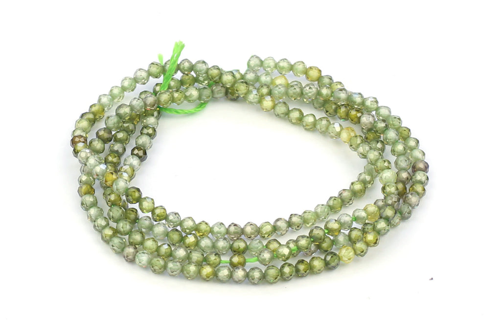 Kerrie Berrie Cubic Zirconia Faceted 2mm Beads Strand