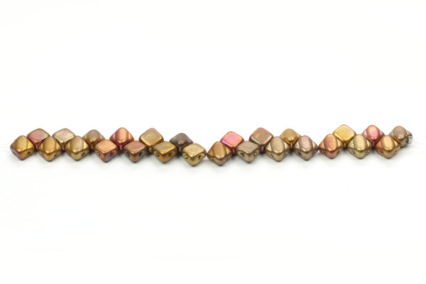 Kerrie Berrie Czech Glass Square 8mm Beads Strand