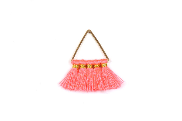 Kerrie Berrie Fringe Tassel Pendant Charm for Jewellery Making in Coral