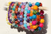 Kerrie Berrie Colourful Elasticated Genuine Real Agate Bracelet in a variety of colours