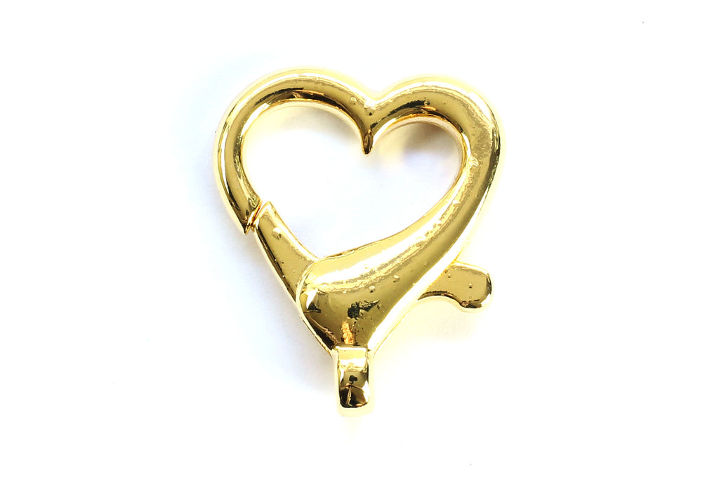 Kerrie Berrie Gold Love Heart Clasp for Jewellery Making Toggle Necklace