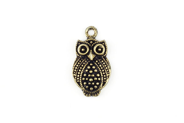 Kerrie Berrie Charms for Jewellery Making Brass Owl Charm