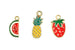 Kerrie Berrie Charms for Jewellery Making Fruit Charms