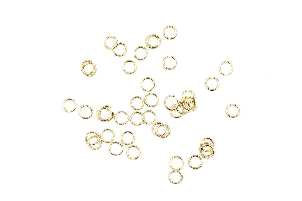 Kerrie Berrie 2mm Gold Open Jump Rings for Jewellery Making