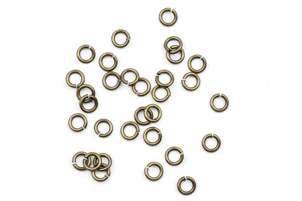 Kerrie Berrie 4mm Brass Open Jump Rings for Jewellery Making