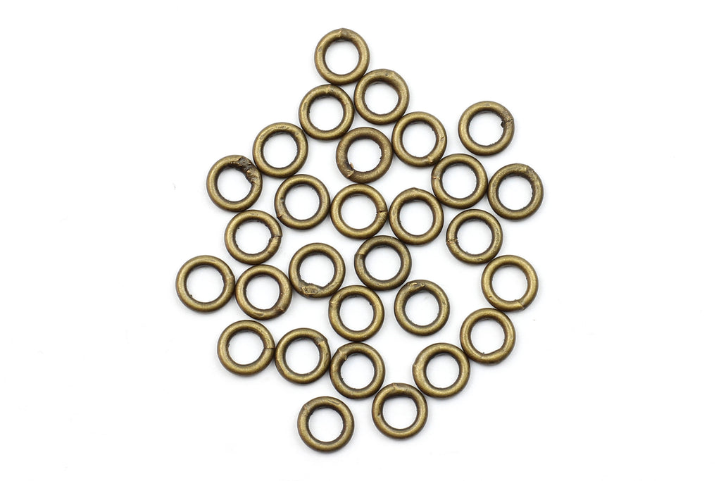 Kerrie Berrie 5mm Brass Closed Jump Rings for Jewellery Making
