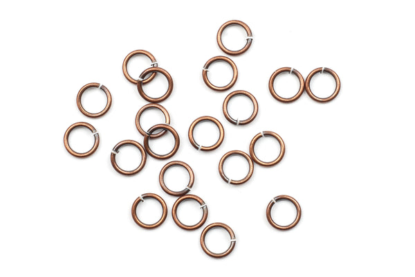 Kerrie Berrie 5mm Copper Open Jump Rings for Jewellery Making