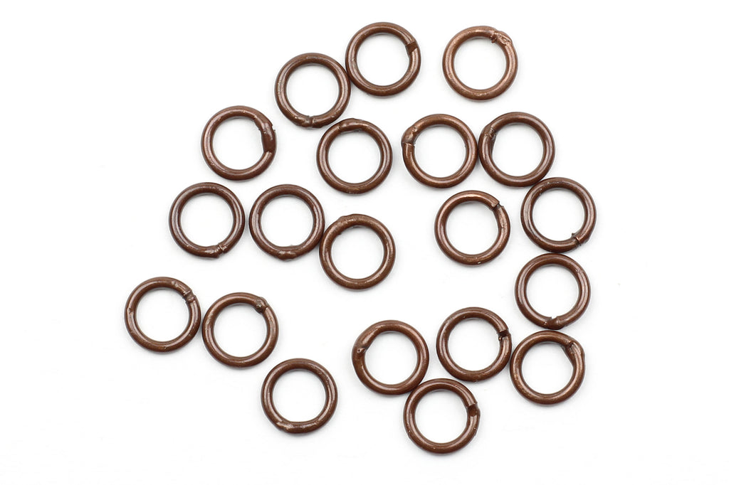 Kerrie Berrie 6mm Copper Closed Jump Rings for Jewellery Making