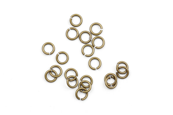Kerrie Berrie 6mm Brass Open Jump Rings for Jewellery Making