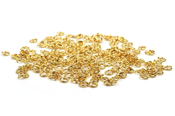 Kerrie Berrie 5mm Gold Open Jump Rings for Jewellery Making