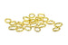 7mm Oval Open Jump Rings – Gold (20pcs)