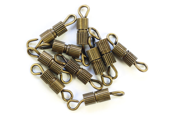 Kerrie Berrie Jewellery Making Aged Brass 14mm Screw Clasp Jewellery Clasps