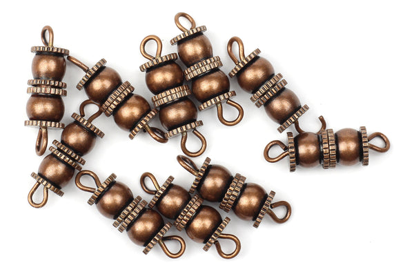 Kerrie Berrie Jewellery Making Antique Brushed Copper 18mm Screw Clasp Jewellery Clasps