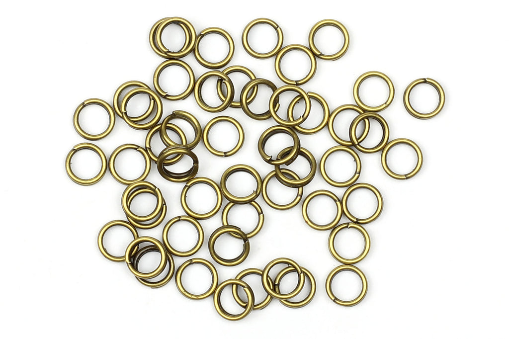 Kerrie Berrie Brass 5mm Split Rings for Jewellery Making