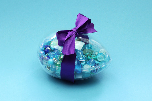 Kerrie Berrie Alternative Easter Egg Bead Mix Jewellery Making Kit Blue