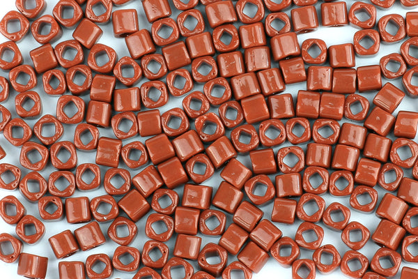 Kerrie Berrie Square Seed Beads for Jewellery Making UK Delivery in red brown