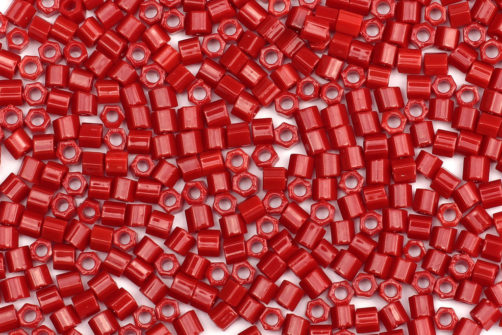 Kerrie Berrie Hex Seed Beads for Jewellery Making UK Delivery in bright red