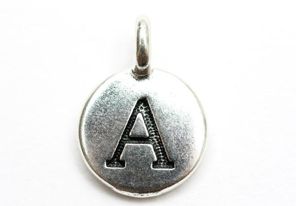 Silver-plated Tierracast Initial Letter Alphabet Charms