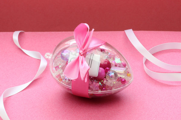 Kerrie Berrie Alternative Easter Egg Bead Mix Jewellery Making Kit Pink