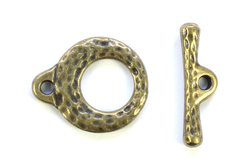 Kerrie Berrie Chunky hammered Brass Toggle Clasp for Jewellery Making Toggle Necklace