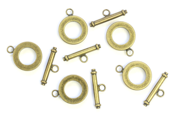 Kerrie Berrie Chunky Brass Toggle Clasp for Jewellery Making Toggle Necklace