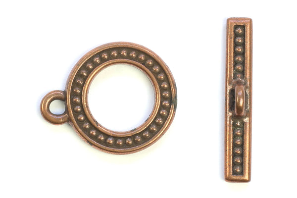 Kerrie Berrie Ornate Decorative Copper Toggle Clasp for Jewellery Making Toggle Necklace