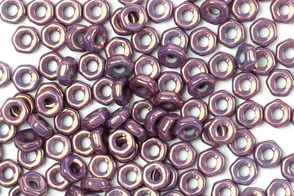 Kerrie Berrie UK Czech Glass Seed Beads for Jewellery Making in Iridescent Purple
