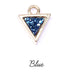 Druzy Crystal and Gold Triangle Pendant Charms – CHOICE OF COLOURS