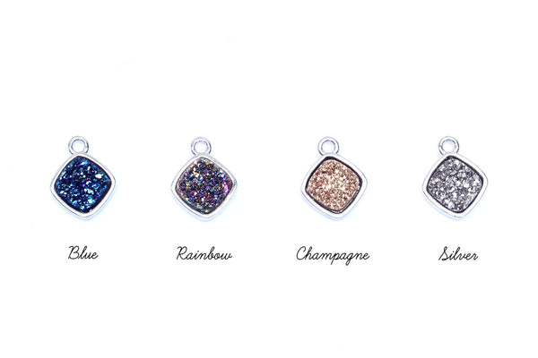 Kerrie Berrie UK Druzy Charms for Jewellery Making Drusy Bead Charm Pendants for Making Jewellery at Home