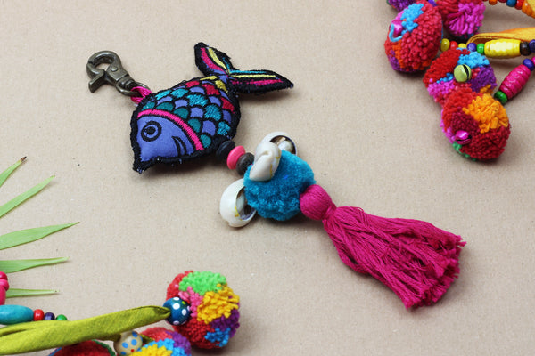 Kerrie Berrie Colourful Fish Key Ring