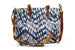 Kerrie Berrie UK Tie Dye Shibori Embroidered Tote Bag with Shoulder Strap