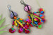 Kerrie Berrie Colourful Pom Pom Tassel Key Ring