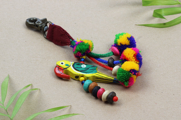 Kerrie Berrie Colourful Parrot Key Ring