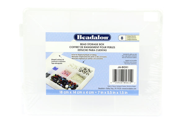 Beadalon 8-Compartment Bead Storage Box