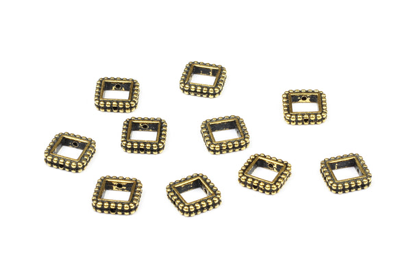 Kerrie Berrie UK Tierracast Gold Plated Square Bead Frames for Jewellery Making