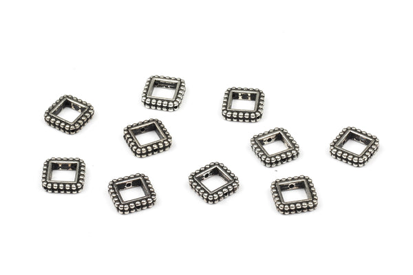 Kerrie Berrie UK Tierracast Silver Plated Square Bead Frames for Jewellery Making