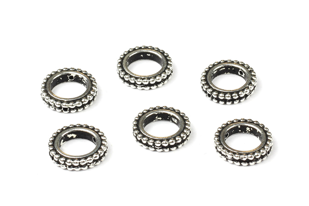 Kerrie Berrie UK Tierracast Silver Plated Round Bead Frames for Jewellery Making