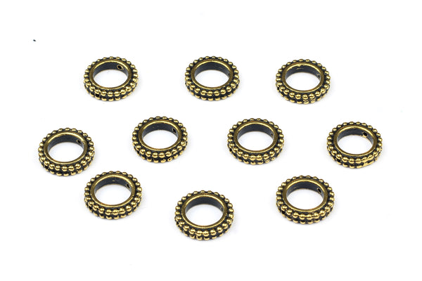 Kerrie Berrie UK Tierracast Gold Plated Round Bead Frames for Jewellery Making