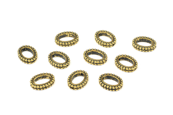 Kerrie Berrie UK Tierracast Gold Plated Oval Bead Frames for Jewellery Making