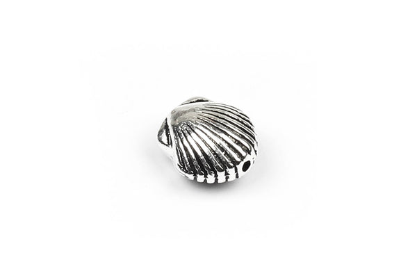 Kerrie Berrie UK Tierracast Silver Plated Shell Bead for Jewellery Making