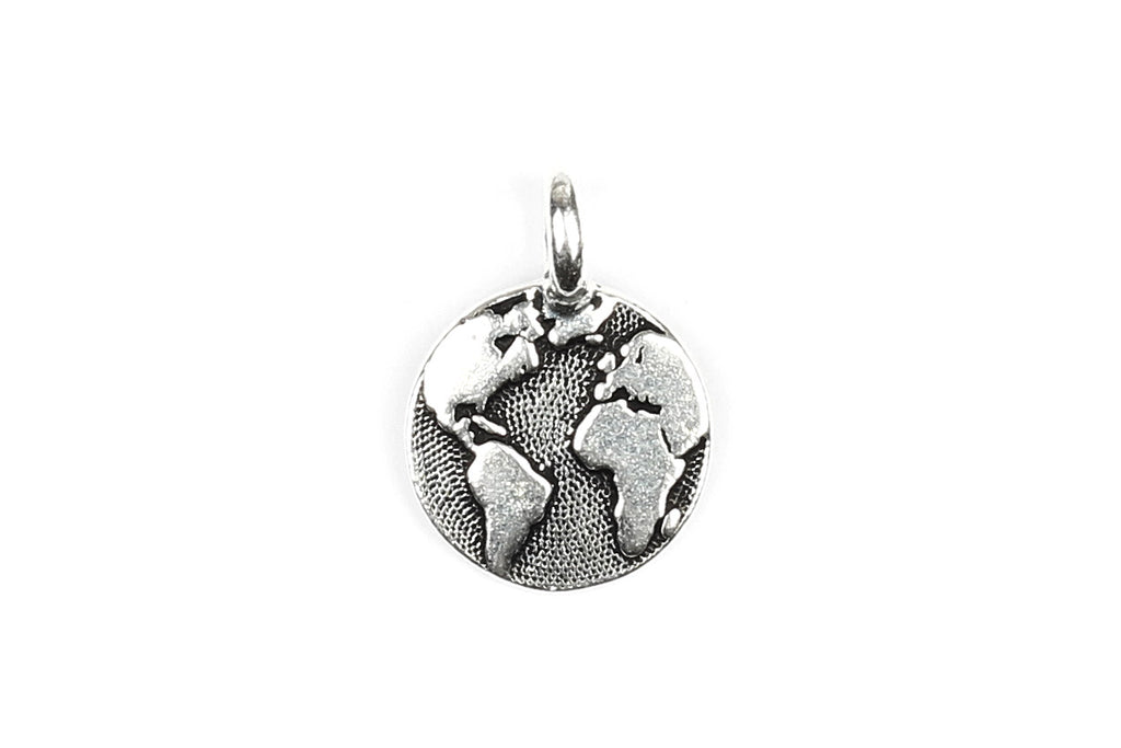 Silver-plated Tierracast Earth / World / Globe Charm
