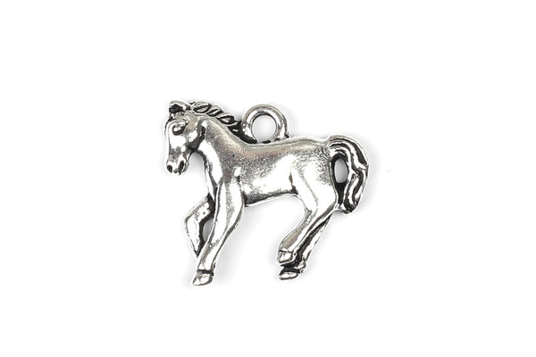Kerrie Berrie Tierracast Silver Horse Charm for Jewellery Making