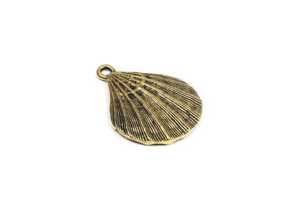 Kerrie Berrie UK Tierracast Gold Plated Shell Charm for Jewellery Making