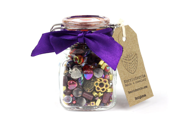 Bead Jewellery Making Kit in a Jar Craft Gift