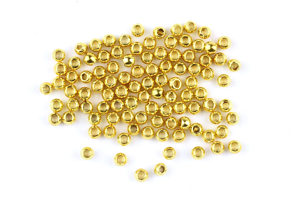 Kerrie Berrie Gold Round Bead Crimps for Jewellery Making
