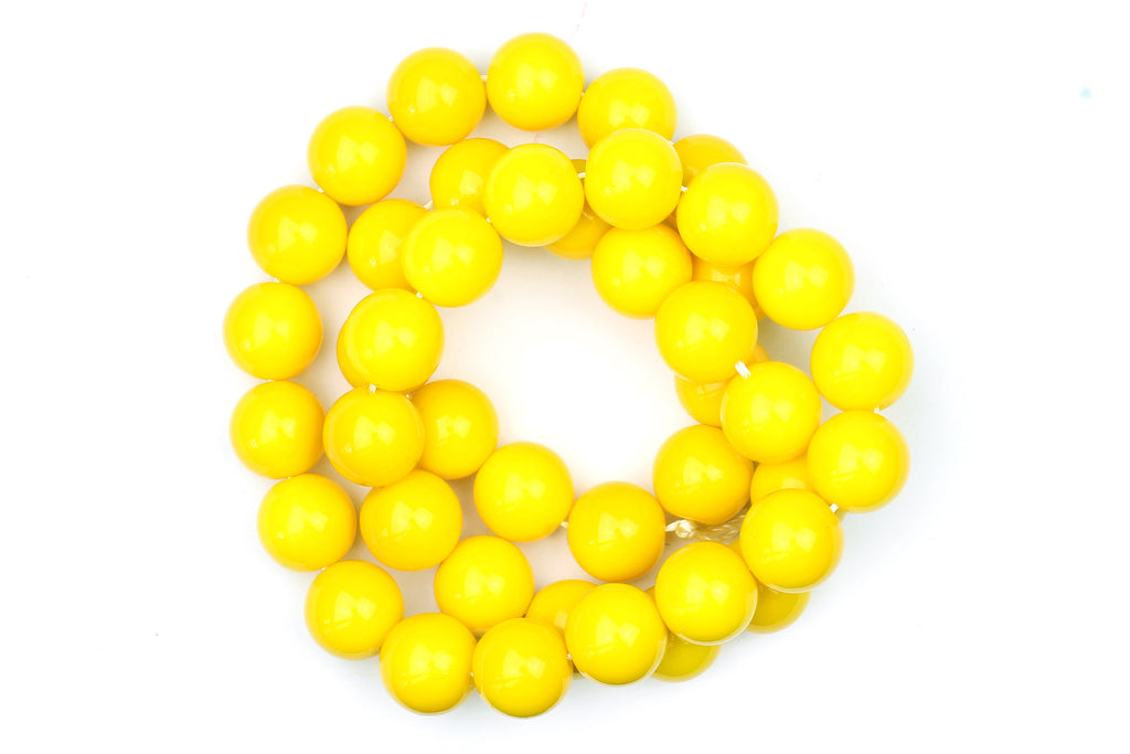 Kerrie Berrie UK Glass Beads for Beading and Jewellery Making in Yellow