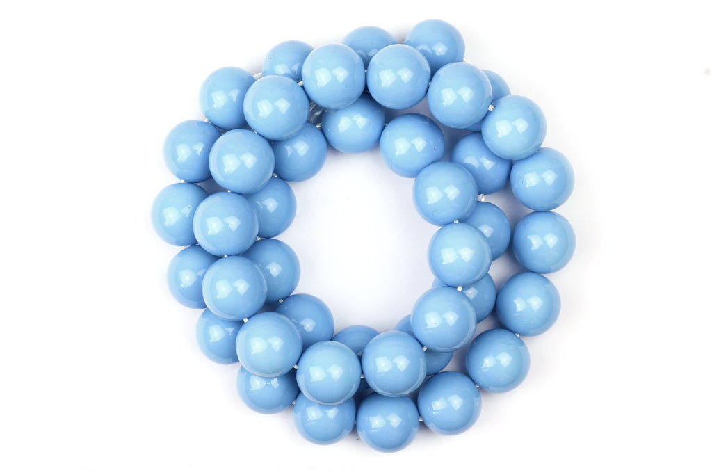 Kerrie Berrie UK Glass Beads for Beading and Jewellery Making in Pastel Blue