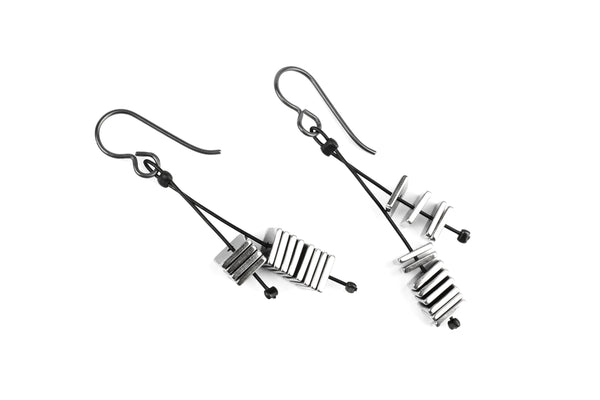 KerrieBerrie Handmade in UK Hematite Drop Earrings