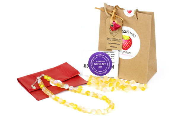 Make it Yourself DIY Colourful Beaded Necklace Jewellery Making Kit_Ideal Craft Present Gift